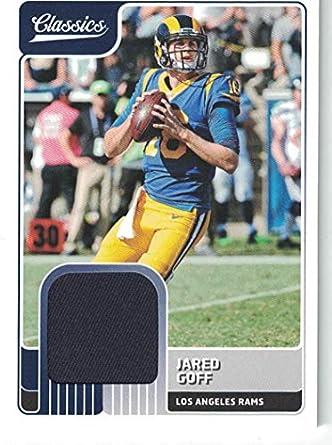 ef3e71fbf6e Amazon.com  2018 Classics Authentic Jared Goff Game Worn Jersey Card ...
