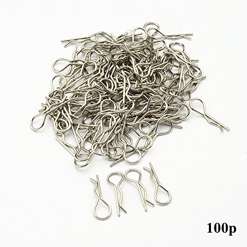 DiDi/iRC 02053 Strong Steel Stainless Body Clips Pins Universal RC Spare parts For 1/10th 1/12th 1/16th RC Car Nitro Electric Power Redcat Himoto HPI 100-Pack