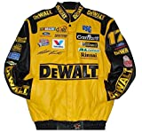 Nascar Matt Kenseth Dewalt Embroidered Leather Jacket Size 3XLarge