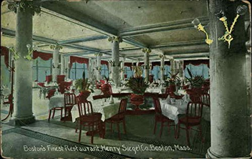 Boston's Finest Restaurant, Henry Stegel Company Boston, Massachusetts Original Vintage Postcard