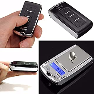 200g/0.01g Precision Mini Portable Gram Scale with Ring Keychain,Car Key Shape Electronic Scale for Jewelry Balance