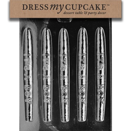Dress My Cupcake Chocolate Candy Mold, It's a Boy Baby Shower Cigar, Set of 6]()