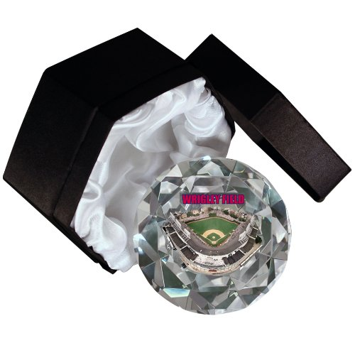MLB Chicago Cubs Wrigley Field 4-Inch High Brillance Diamond Cut Crystal ()
