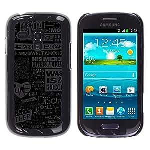 Be Good Phone Accessory // Dura Cáscara cubierta Protectora Caso Carcasa Funda de Protección para Samsung Galaxy S3 MINI NOT REGULAR! I8190 I8190N // Jesus God Quote Newspapepr Poste