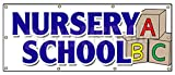 36''x96'' NURSERY SCHOOL BANNER SIGN licensed accredited kindergarten day care