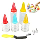 YOUDirect Cookie Decorating Kit Set of 14 Cake Cupcake Making Set Piping Squeeze Bottles Icing Dispenser Bottles Cake DIY Baking Tools