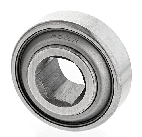 Hex Bore 0.6690 Inner Ring Width Two Single Lip Seals 1.125 ID Peer Bearing 207KRRB9 Agriculture Bearing 2.8346 Spherical OD 1.4840 Outer Ring Width