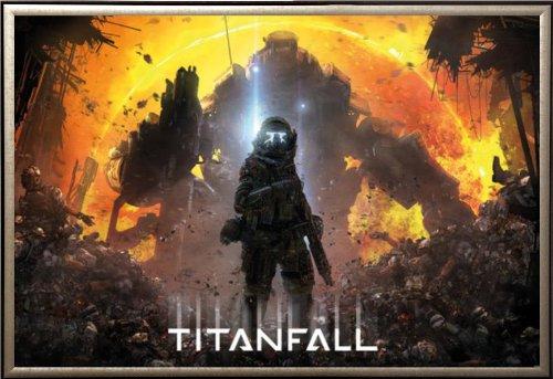 Framed Titanfall - Militia Pilot 36x24 Dry Mount Poster Gold