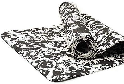 Eco friendly ヨガマット - プレミアムプリントカーペットデザインTPEは-5mm極厚軽量スリップオンヨガ、瞑想、床やフィットネスワークアウト、モノクロ用ストラップ exercise