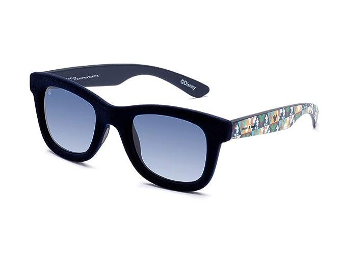 7408fe981d94f3 ITALIA INDEPENDENT occhiali da sole unisex 0090V DISNEY effetto velluto  aste con Mickey Mouse (blu
