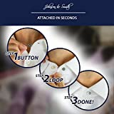 Collar Extenders by Johnson & Smith – Neck Extender / Wonder Button for 1/2 Size Expansion of Men Dress Shirts, 5 +1 Pack, 3/8""