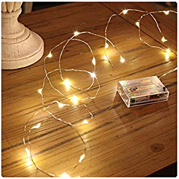 sanniu led string lights mini battery powered copper wire starry fairy lights battery operated