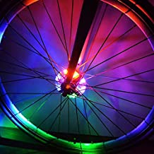 Cyborg LED Bike Wheel Hub Lights,Easy to Install, 3 Modes Bicycle Spokes and Rims Safety Warning Light. Magic Decoration Light Bicycle Cycling Tire Accessories Lighting,Waterproof (Multi-Color)
