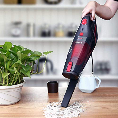 Dibea 2-in-1 Corded Upright Stick & Handheld Vacuum Cleaner 15Kpa Strong Suction Multi-Layer HEPA, 1L Dust Bin, Five Height Adjustment Settings for Carpet Hard Floor SC4588