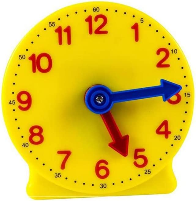 Construct a clock educational science kids toy learn about time cogs mechanics