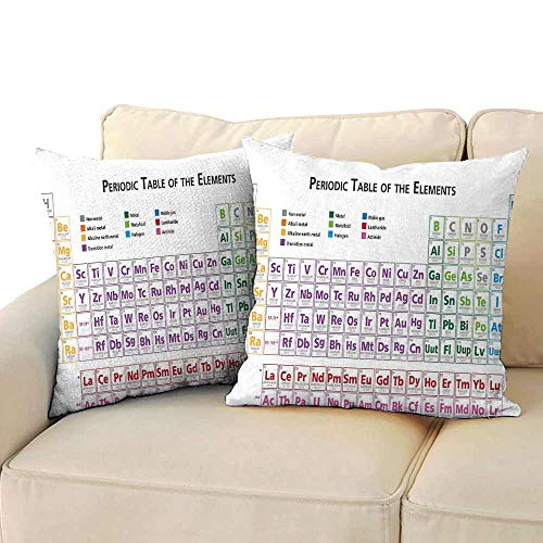 Personalized Pillowcase Science Chemistry Primary School Students Geek Nerd Lessons Classes Smart Kids Art Print Soft and Breathable W 14