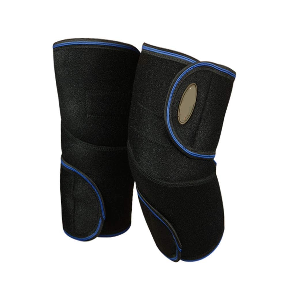 Sports Equipment Self-heating magnetic stone knee pads to keep warm old cold leg protection knee sets summer ultra-thin men and women seasons breathable elastic sports bandage knee pads (The average c