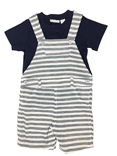 First Impressions 2-Pc. T-Shirt Herringbone Shortalls Navy Nautical 18 Months (Herringbone Coveralls)