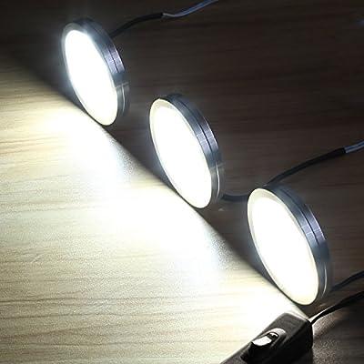 LE LED Puck Lights, Kitchen Under Cabinet Lighting Kit