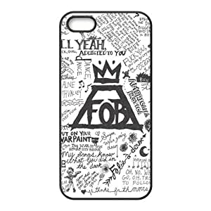 Personalized Snap-on TPU Rubber Coated Case Compatible with iPhone 6 4.7 Cases [FOB Fall Out Boy]