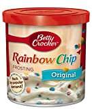 Betty Crocker Frosting, Rich & Creamy Gluten Free Frosting, Original Rainbow Chip, 16 oz (Pack of 8)