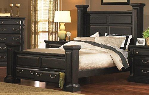 Progressive Furniture Torreon King Complete Bed in Antique Black