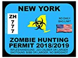 New York Zombie Hunting Permit(Bumper Sticker)