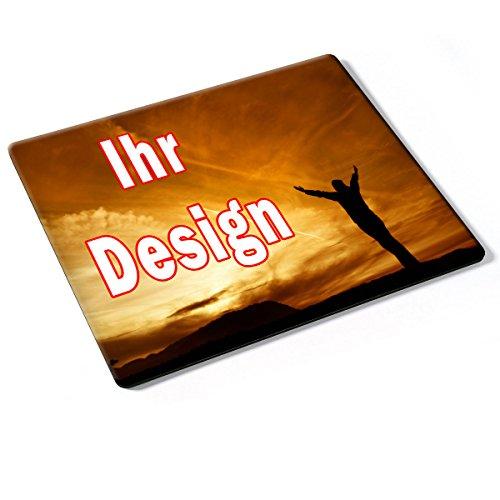Custom DE-003, Geschenk Gift Individuelle Personalisierte Mousepad Mauspad Maus-Pad Stark Anti Rutsch mit eigenem ihr Foto Motiv Namen Design Text. Allen Maustypen (Kugel, Optisch, Laser).
