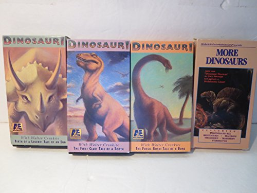 Bundle Dinosaur Show Bundle VHS, A & E The Fossil Rush: Tale of Two Bones, Birth of a Legend: Tale of an Egg, The First Clue: Tale of a Tooth & More Dinosaurs (Legends Fossil)