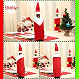 Gbell Christmas Red Wine Bottle Cover Bags Decoration Home Party Santa Claus Kitchen Wine Bottle Sets Ornaments