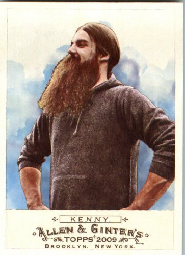 (2009 Topps Allen & Ginter #61 Burke Kenny World Champion- Full Beard- Styled Moustache - MINT Condition - Shipped In Protective ScrewDown Display)