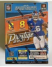 2021 Panini Prestige NFL Football Blaster Box (64 Cards/bx) Look for Blaster Exclusive Diamond Parallel and Memorabilia Cards