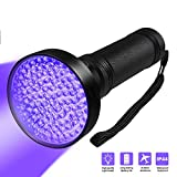 Siomentdi 100 LED UV Flashlight - Black Light UV Lamp, 395nmuv Flashlight Mask Fluorescent Agent Detection Pet Urine Detector for Dog/Cat Urine, Dry Stains, Bed Bugs, Match with Pet Smell Remover