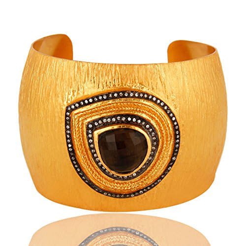 Traditional Handmade Gold Plated Brass Fashion Women Wedding Cuff Bracelets by Dhruvansh Creations