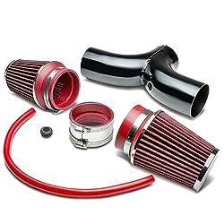 Dodge SUV/Truck Short Ram Cold Air Intake Pipe Kit Set (Black Pipe+Red Filter)