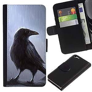 """Apple (4.7 inches!!!) iPhone 6 , la tarjeta de Crédito Slots PU Funda de cuero Monedero caso cubierta de piel ("""" Crown Fairytale Movie Magical Bird Rain Tree"""")"""