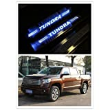 Highitem Upgrade 2016 Version LED Light Illuminated Door Sill Scuff Plate Cover for 2008-2016 Toyota Tundra