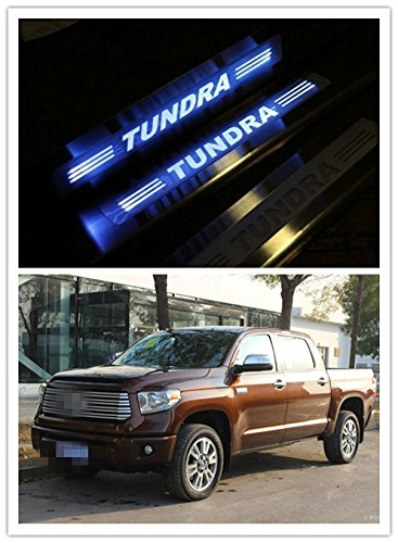 Highitem Upgrade 2016 Version LED Light Illuminated Door Sill Scuff Plate Cover for 2008-2017 Toyota Tundra