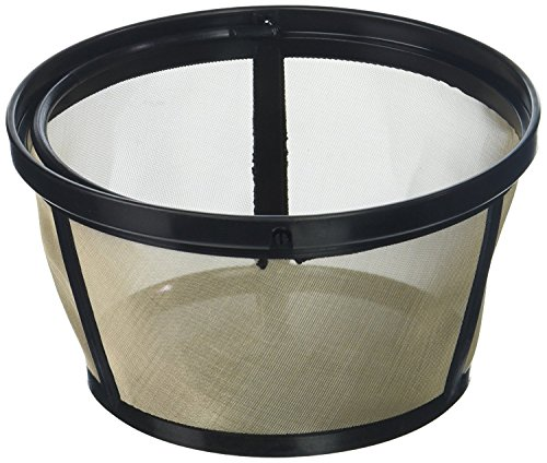 Permanent Basket-Style Gold Tone Coffee Filter designed for Mr. Coffee 10-12 Cup Basket-Style Coffeemakers (Filter Coffee)