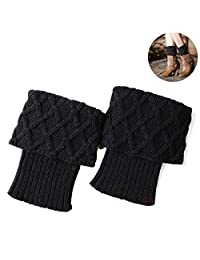 Boot Cuff Socks Winter Warm Crochet Knitted Short Leg Warmers Ankle Boot Cover