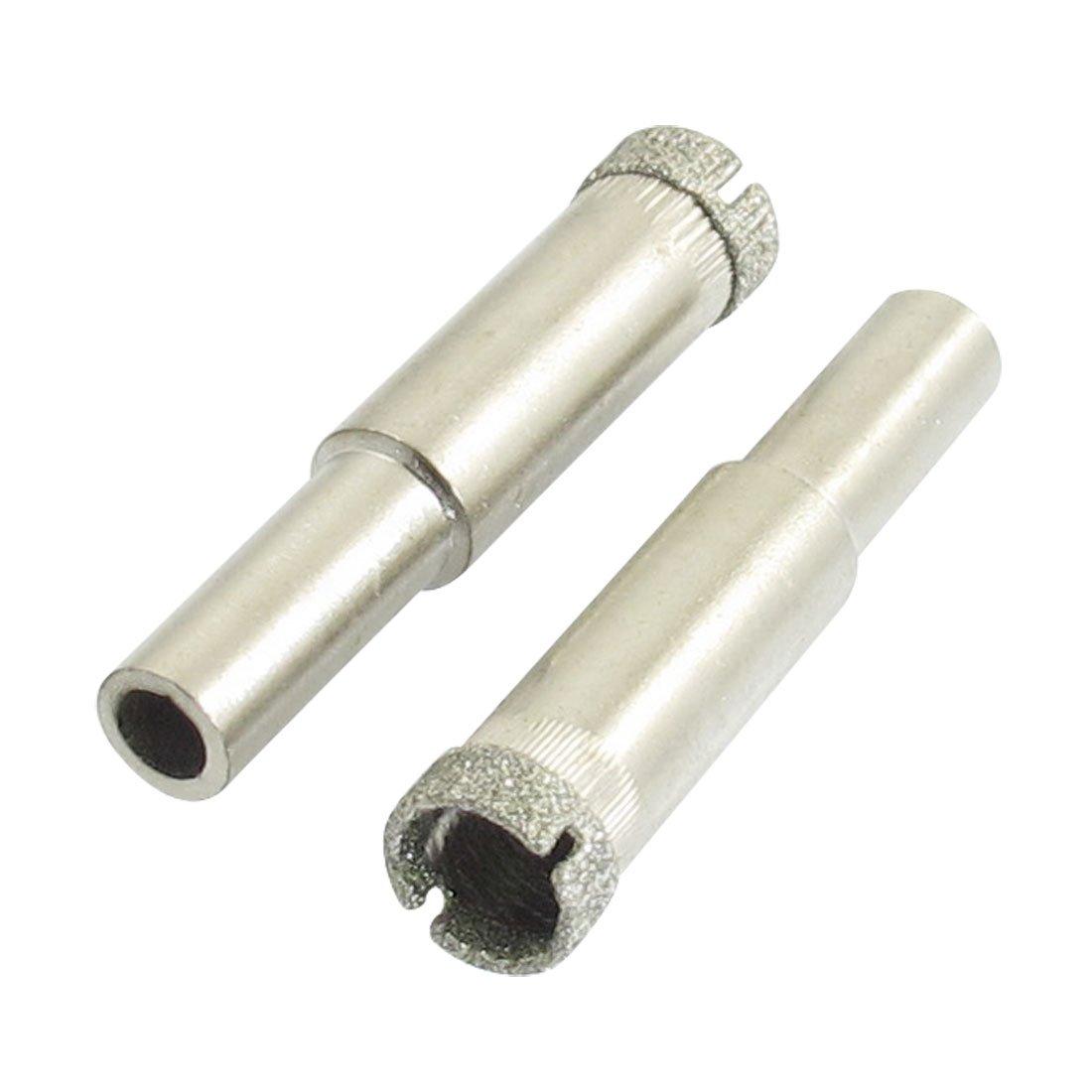 2 Pcs 100mm Diamond Drill Bits Set Hole Saw Cutter Tool Glass Marble Granite