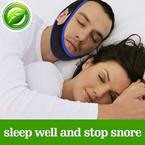 Anti Snore adjustable Jaw sleep Chin strap for snoring solution cures simple and natural snoring stopper by KTK
