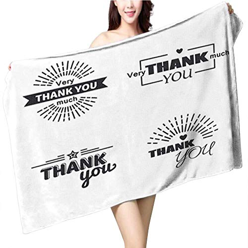 fengruiyanjing Cotton Craft Beach Towel Thanksgiving Funny Cartoon Turkey Cook Serving Pumpkin Pie and Holding a Fork Vector Cartoon Isolate Highly Absorbent Towel Size:63 x 31.5 INCH