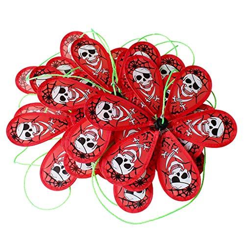 (B Blesiya 8pcs/Set Windmill String Halloween Party Activities Decorative Pinwheels Windmill Toys (10 Meters) - Skull)