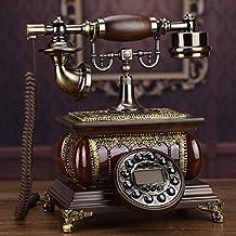 Antique Telephones Vintage Wood Retro Telephone Landline Home Telephone Landline