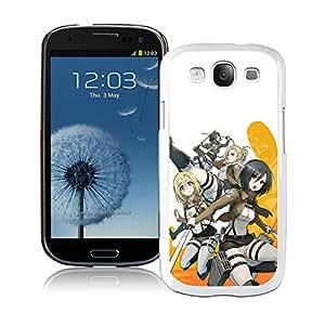 Fashion Designed Attack on Titan 28 White Samsung Galaxy S3 Phone Case