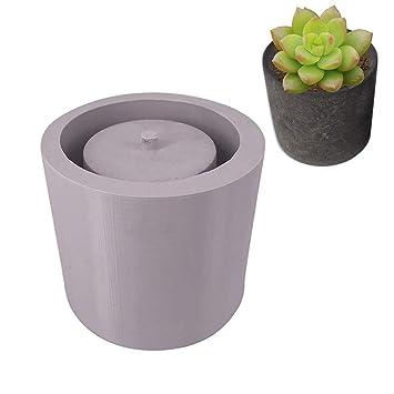 Silikon Blumentopf Form Zylindrische Sukkulenten Pflanzen
