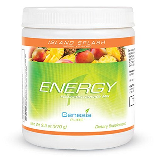 Genesis Pure Energy With Wheat Grass Island Splash Sugar Free Powder Mix Dietary Supplement Sports Drink