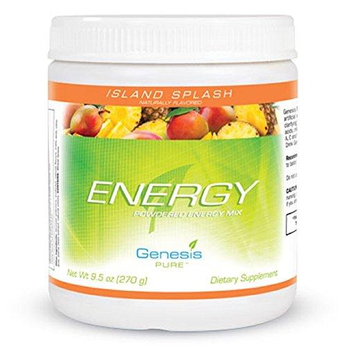 Genesis Pure Energy with Wheat Grass Island Splash Sugar-Free Powder Mix Dietary Supplement SPORTS DRINK by Genesis PURE