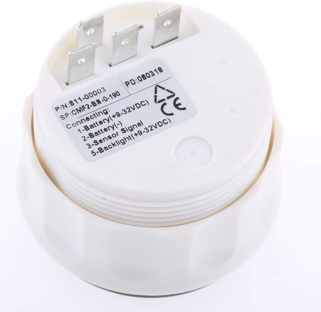 Schwarz 1 perfk 1 St/ück Tankanzeige Digital Tankanzeige Bootsmesser 52mm Tankanzeige Auto Tankanzeige LED Licht